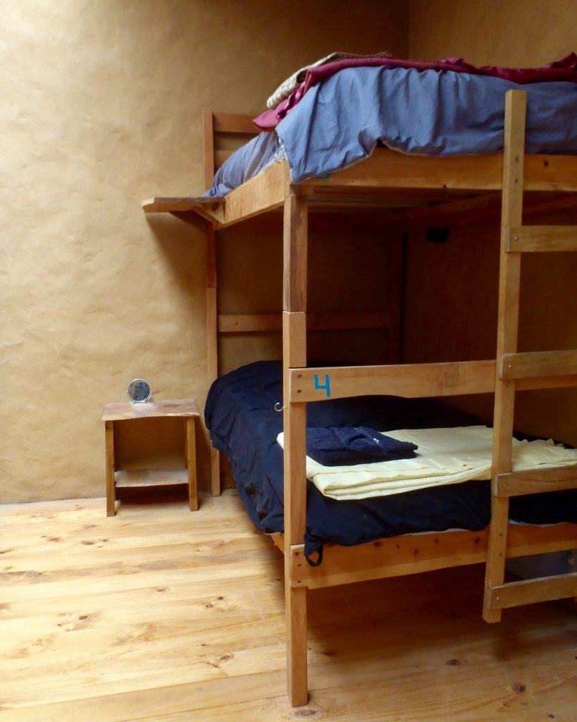 A shared volunteer and researcher dormitory room.